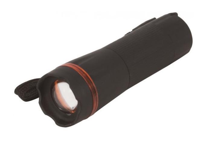 Фонарик светодиодный FIT, цвет: черный. 67761
