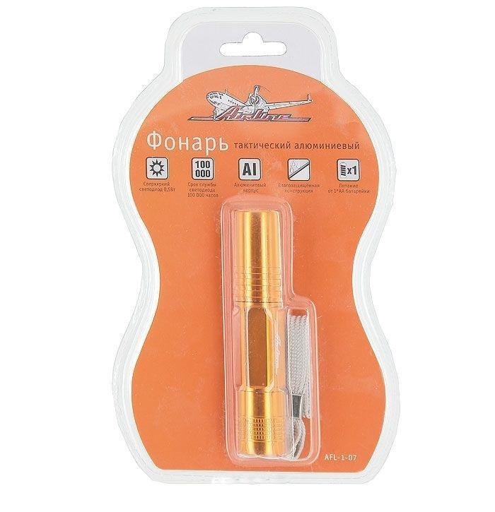 Фонарь светодиодный Airline AFL-1-07WS 7064Компактный светодиодный фонарь Airline AFL-1-07 оснащен ярким светодиодом, который экономно расходует энергию батарей. Характеристики: Материал: металл. Размеры фонаря: 9 см х 2 см. Размеры упаковки: 18,5 см х 1 см х 4 см.