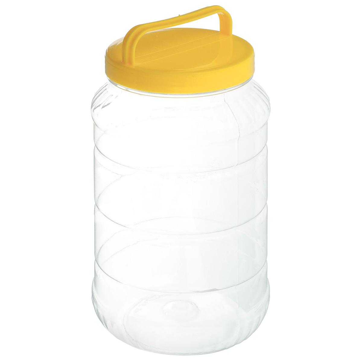 Бидон Альтернатива, цвет: желтый, 3 лZM-11025Бидон Альтернатива предназначен для хранения и переноски пищевых продуктов, таких как молоко, вода и прочее. Выполнен из пищевого высококачественного ПЭТ. Оснащен ручкой для удобной переноски.Бидон Альтернатива станет незаменимым аксессуаром на вашей кухне.Высота бидона (без учета крышки): 25 см.Диаметр: 10,5 см.