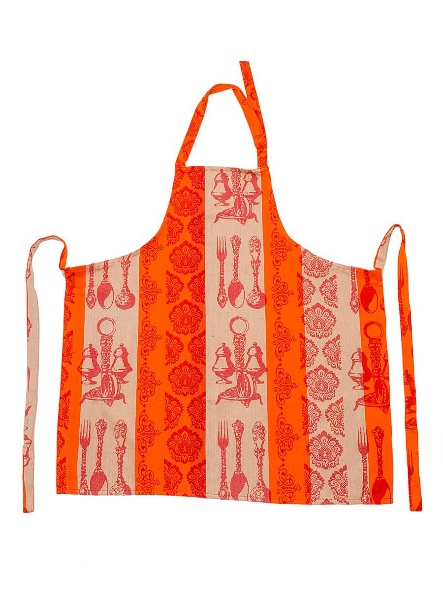 Фартук жаккардовый Arloni Классик, цвет: оранжевый, бежевыйVT-1520(SR)Фартук Arloni Классик изготовлен из экологически чистого материала - 100% натурального хлопка. Оформлен изысканным жаккардовым рисунком. Универсальный размер. Регулируемая бретель-петля и завязки помогут идеально подогнать изделие под ваш размер. Яркий принт, стильный дизайн и качество исполнения сделают этот фартук незаменимым на вашей кухне. Изделие отличается высоким качеством пошива, а материал прекрасно переносит большое количество стирок. Легко стирается в стиральной машине или вручную.
