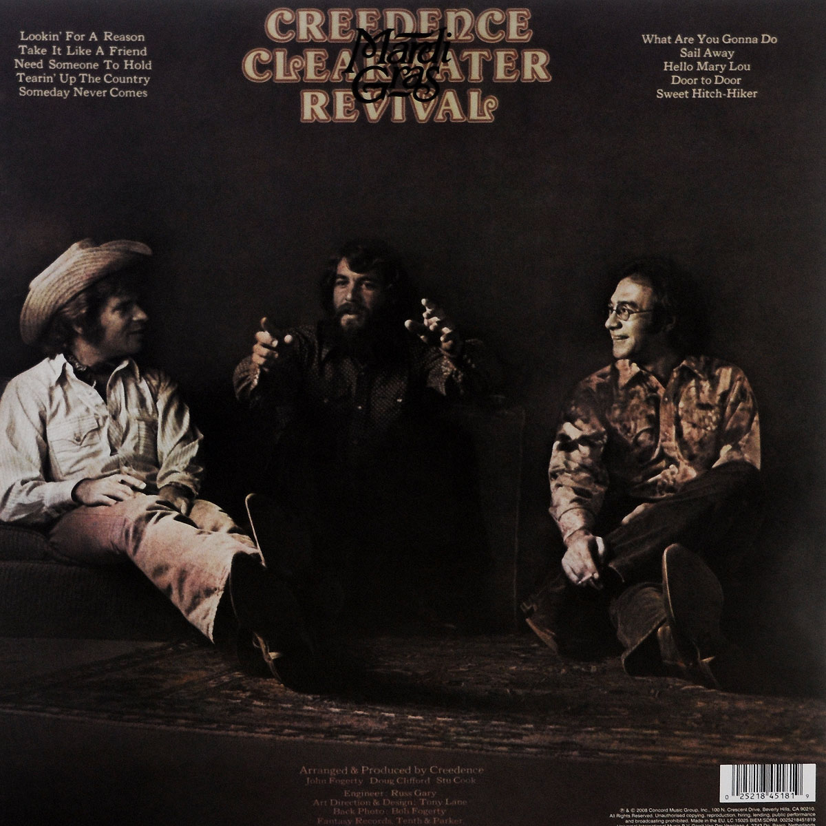 Creedence Clearwater Revival Creedence Clearwater Revival. Mardi Gras (LP)