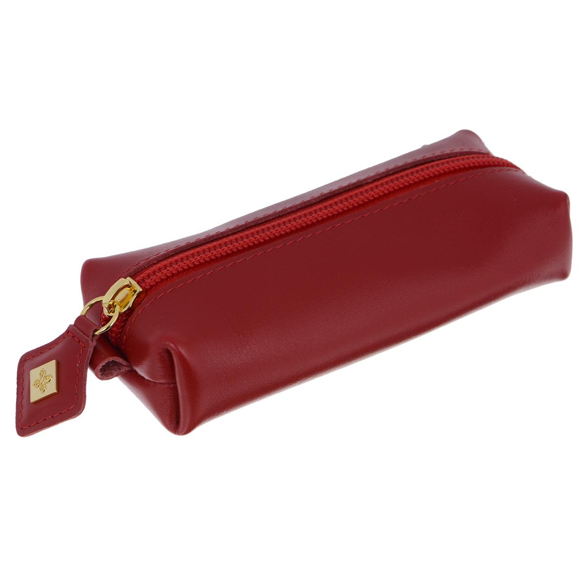 Ключница Dimanche Elite, цвет: красный. 84139864|Серьги с подвескамиСтильная ключница Dimanche Elite Purpur изготовлена из натуральной кожи. Модель оформлена небольшой металлической пластиной с логотипом бренда. Ключница закрывается на застежку-молнию. Внутреннее отделение дополнено хлястиком с металлическим кольцом для крепления ключей.Модная ключница прекрасно дополнит ваш образ и станет незаменимым аксессуаром на каждый день.
