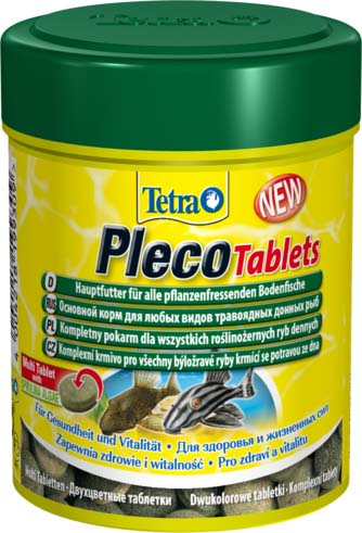 Корм для травоядных донных рыб Tetra Pleco Tablets, таблетки, 36 г103101020Корм Tetra Pleco Tablets подходит для любых видов травоядных донных рыб, в том числе сомиков-присосок, а также пугливых рыб. Это сбалансированные, богатые питательными веществами таблетки высшего качества, которые гарантируют наилучшее питание для ваших рыб. Таблетки быстро опускаются на дно или могут быть размещены в необходимом месте. Они медленно размягчаются, высвобождая корм. Имеют в составе водоросли спирулины для повышения сопротивляемости организма. Состав: молоко и молочные продукты, рыба и побочные рыбные продукты, экстракты растительного белка, зерновые культуры, дрожжи, водоросли (спирулина максима 5%), моллюски и раки, масла и жиры, сахар, минеральные вещества. Аналитические компоненты: сырой белок 40%, сырые масла и жиры 5%, сырая клетчатка 2%, влага 9%. Добавки: витамин А 30400 МЕ/кг, витамин Д3 1390 МЕ/кг, Е5 марганец 57 мг/кг, Е6 цинк 34 мг/кг, Е1 железо 22 мг/кг, Е3 кобальт 0,4 мг/кг, красители, консерванты, антиоксиданты. Вес: 36 г. Товар сертифицирован.