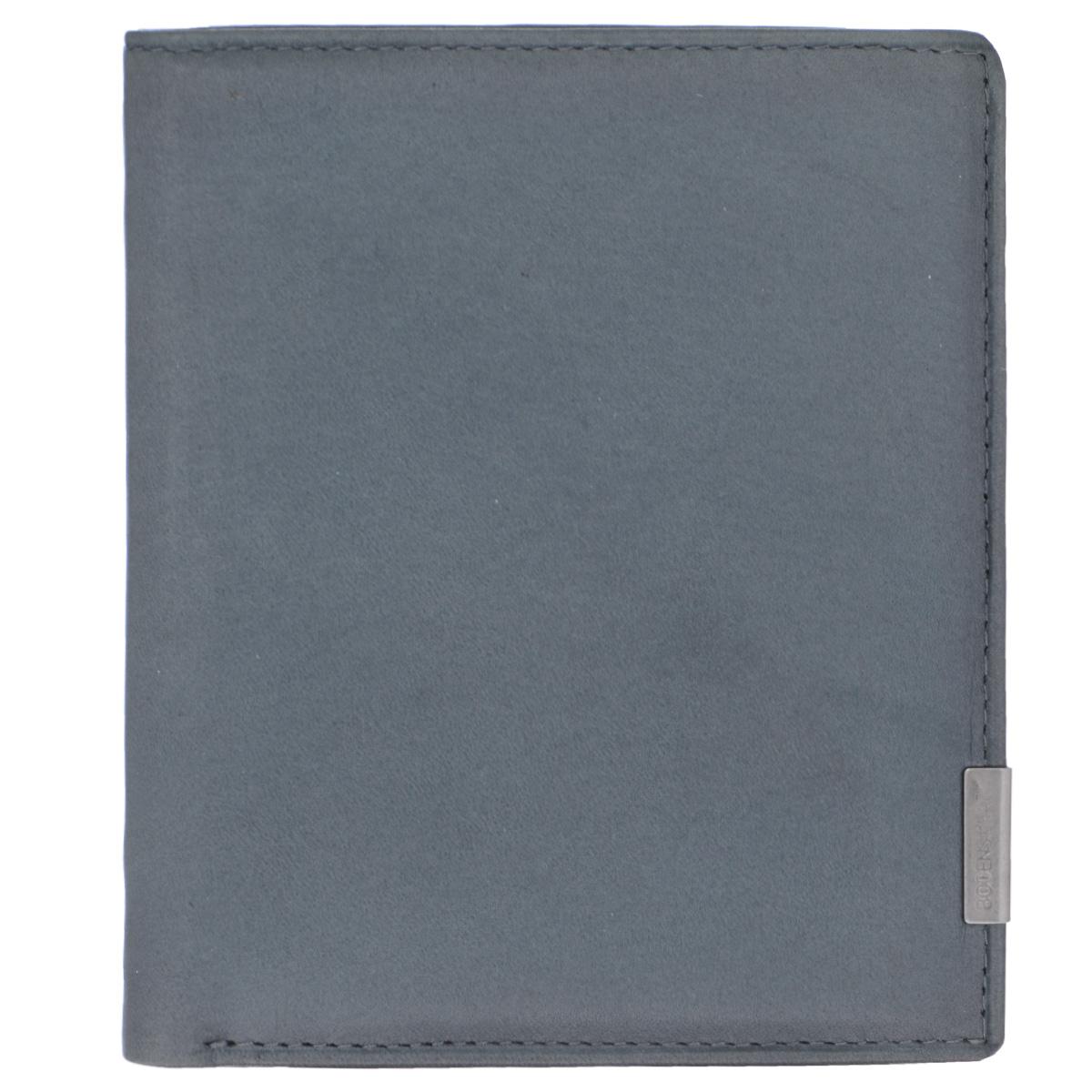 Бумажник мужской Bodenschatz, цвет: серый. 8-660/16W16-11128_323Модный мужской бумажник Bodenschatz изготовлен из натуральной кожи и оформлен небольшой металлической пластиной с гравировкой в виде названия бренда на лицевой стороне. Внутри - два отделения для купюр, отсек для мелочи на замке-кнопке, боковой карман, два сетчатых кармана, четыре прорези для визиток и кредитных карт (одна оформлена с внешней стороны сеткой).Изделие упаковано в фирменную коробку.Изысканный бумажник не оставит равнодушным истинного ценителя прекрасного.