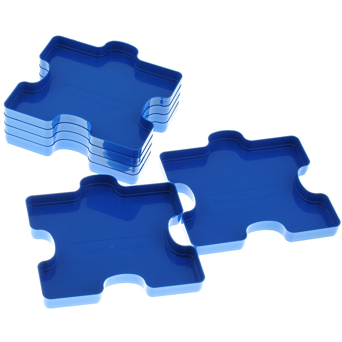"""Сортировщик пазлов """"Ravensburger"""" предназначен для сортировки и хранения элементов пазла. Комплект включает 6 лотков в форме элементов пазла, выполненных из прочного пластика и вмещающих от 300 до 1000 элементов."""