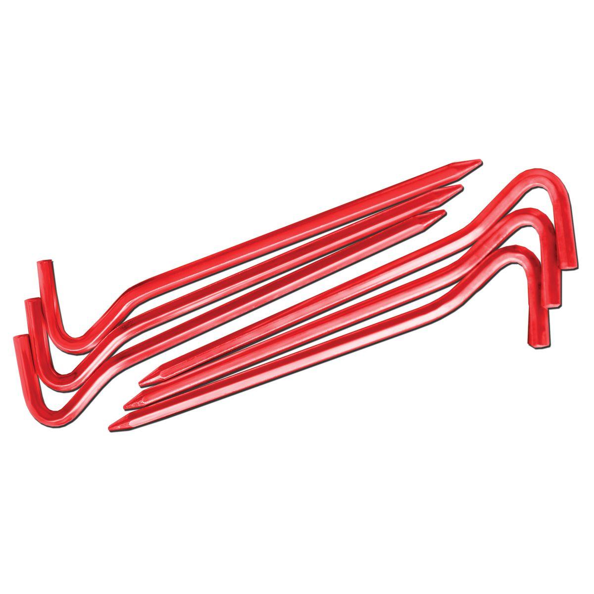 Комплект колышков шестигранных Nova Tour v2, цвет: красный металлик, 10 шт67742Легкие и прочные колышки Nova Tour v2 предназначены для установки палатки. Яркие, не теряются в траве. Изготовлены из алюминиевого сплава. В комплекте 10 шестигранных колышков усиленной прочности