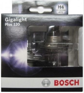 Лампа Bosch GIGALIGHT+120 H4 12V 60/55W (DP) 1987301106PANTERA SPX-2RSЛАМПА H4 12V 60/55W GIGALIGHT+120 (DP)