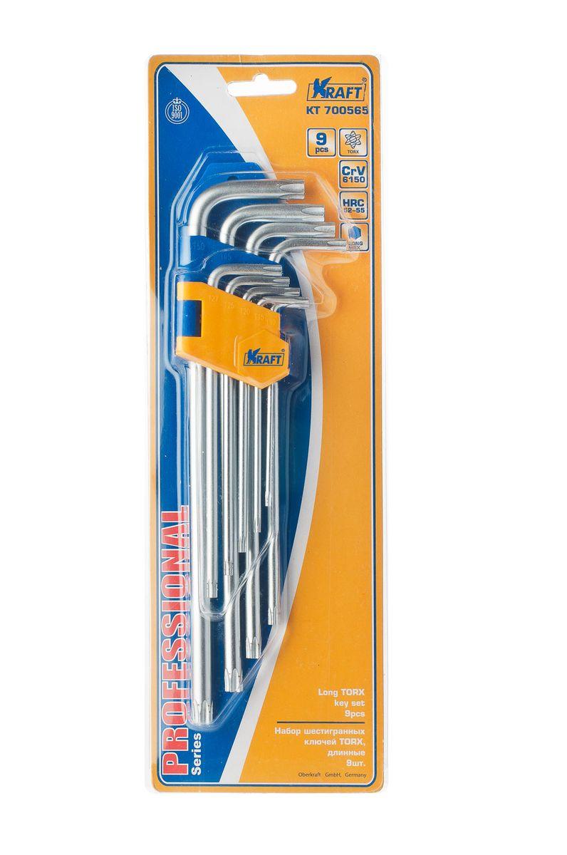 Набор ключей шестигранныхKraft Professional Torx, Т-10 - Т-50, 9 шт98298130Набор шестигранных удлиненных ключей Kraft Professional Torx предназначен для работы с крепежными элементами, имеющими внутренний шестигранник. Каждый ключ изготовлен из хромованадиевой стали и оснащен наконечником с рабочим профилем torx. В набор входят ключи: Т-10, Т-15, Т-20, Т-25, Т27, Т-30, Т-40, Т-45, Т-50.