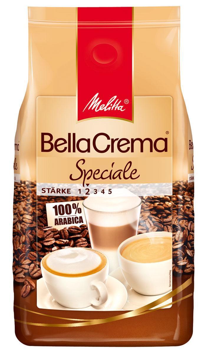 Melitta Bella Crema Speciale кофе в зернах, 1 кг101246Кофе натуральный, жареный, в зернах Melitta Bella Crema Speciale. Чистый сорт Арабика. Идеален для крепких кофейных напитков с использованием молока (латте, гляссе, кофе фредо и др.). Специальная смесь сортов кофе придает терпкий и сильный вкус для истинных ценителей кофе. Низкая прожарка. Предназначен для приготовления кофе в кофеварках и кофемашинах. Черный кофе из этих зерен идеален с твердыми пряными сырами, копчеными колбасами и рыбой.