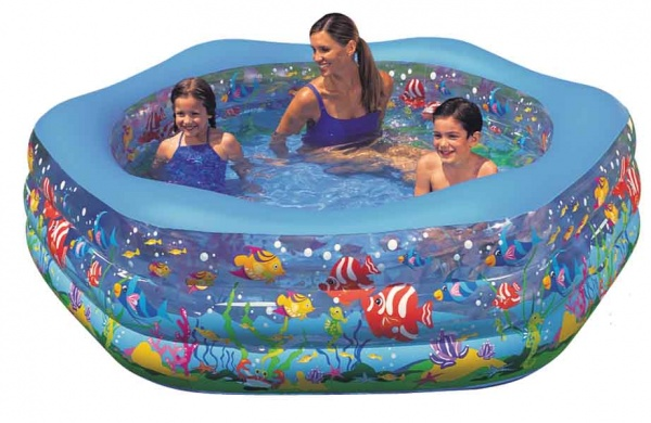 "Бассейн надувной INTEX ""Ocean Reef Shade Pool"" 191х178х61см"