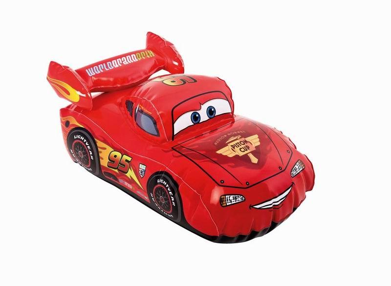 Игрушка надувная Intex Cars, 30 см х 18 см, цвет: красный надувная игрушка с держателями intex крокодил 114 x 203 см