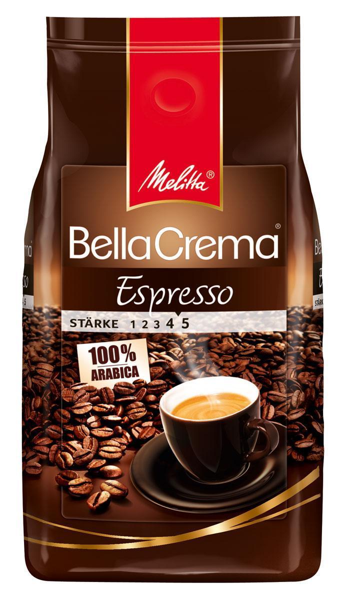 Melitta Bella Crema Espresso кофе в зернах, 1 кг101246Кофе натуральный, жареный, в зернах Melitta Bella Crema Espresso. Классический крепкий кофе для эспрессо. Высокая прожарка. Кофейная композиция была разработана специально для приготовления классического эспрессо с крепостью самого изысканного кофе. В аромате присутствует легкий перечный вкус. Предназначен для приготовления кофе в кофеварках и кофемашинах. Эспрессо из этого вида кофе удачно сочетается с шоколадом, корицей, ванилью.