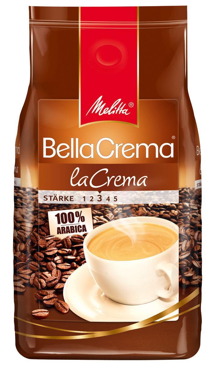Melitta Bella Crema La Crema кофе в зернах, 1 кг0120710Мягкий, ароматный кофе Melitta Bella Crema La Crema для приготовления большой чашки с ароматной пенкой, чтобы Вы могли насладиться кремовым вкусом натурального кофе. Предназначен для приготовления кофе в кофеварках и кофемашинах. Идеально сочетается с десертами, сорбетом, сладкими пирожными.