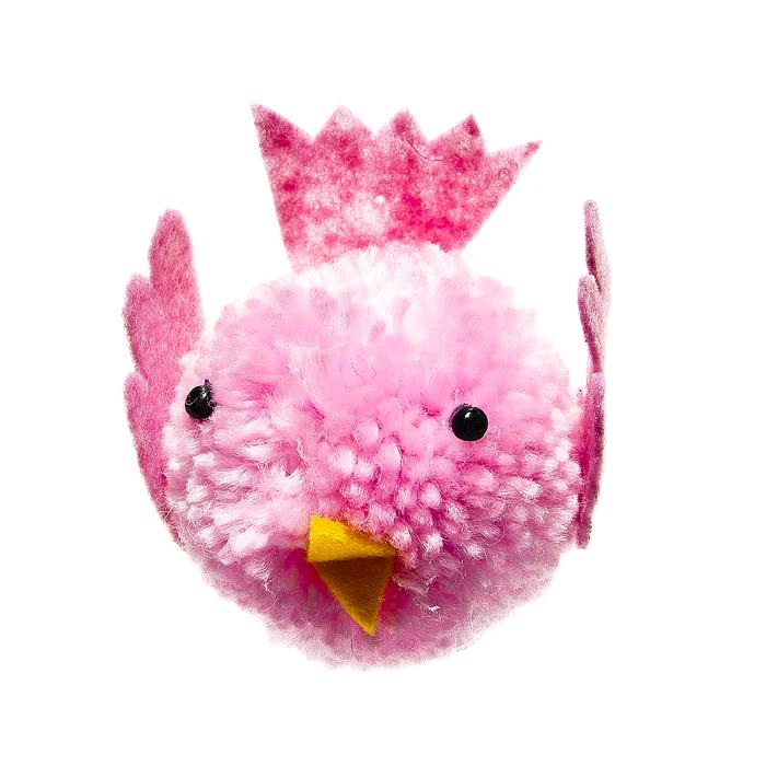 Декоративное подвесное украшение Home Queen Птенчик, цвет: розовыйK100Подвесное украшение Home Queen Птенчик изготовлено из пенопласта и шерсти и выполнено в виде забавного птенца. Изделие оснащено петелькой для подвешивания.Такое украшение прекрасно оформит интерьер дома или станет замечательным подарком для друзей и близких на Пасху. Размер украшения: 6 см х 4 см х 6 см.
