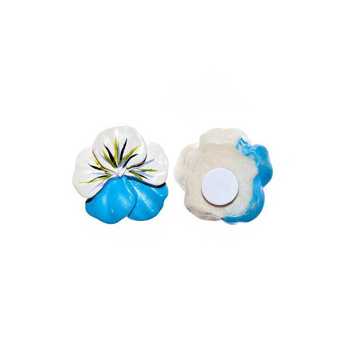 Набор декоративных украшений для яиц Home Queen Луговые цветы, на клейкой основе, цвет; голубой, 8 шт