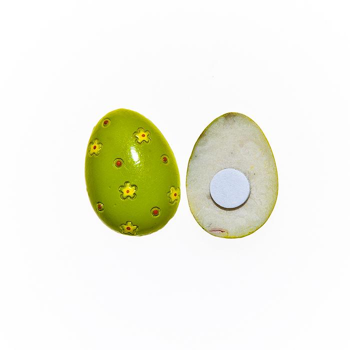 Набор декоративных украшений для яиц Home Queen Весенний мотив, на клейкой основе, цвет; зеленый, 10 шт1501-0192Набор Home Queen Весенний мотив состоит из 10 декоративных элементов и предназначен для украшения яиц, посуды, стекла, керамики, металла, цветочных горшков, ваз и других предметов интерьера. Украшения изготовлены из высококачественной полирезины в виде пасхальных яиц, декорированных цветочным рисунком, и фиксируются при помощи специальной клейкой основы. Такой набор украшений создаст атмосферу праздника в вашем доме. Размер фигурки: 2 см х 0,4 см х 2,5 см.