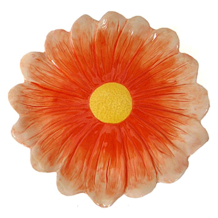 Тарелка декоративная Home Queen Цветок, диаметр 20 см54 009312Декоративная тарелка Home Queen Цветок изготовлена из высококачественной керамики, покрытой слоем сверкающей глазури. Изделие выполнено в виде большого цветка. Такая тарелочка станет оригинальным украшением праздничного стола на Пасху.Диаметр тарелки: 20 см.