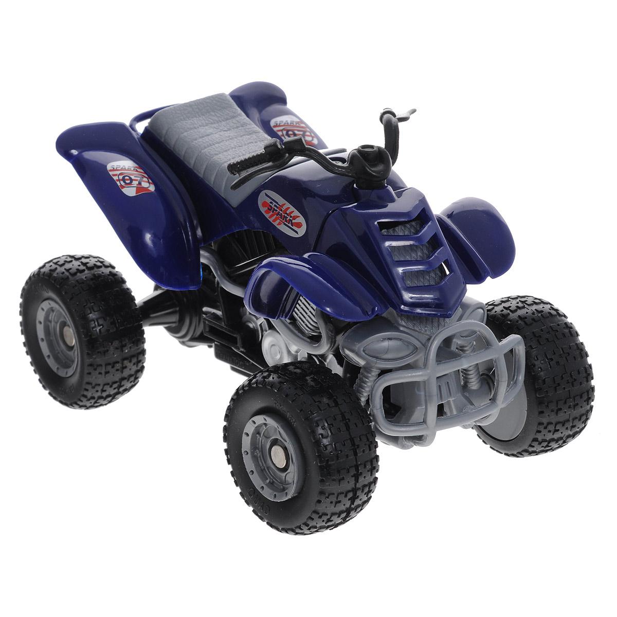 Autotime Коллекционная модель  Мотоцикл Quadrobike Monster , цвет: синий - Электромобили