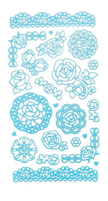 Набор декоративных наклеек Home Queen Цветочное настроение. Розы, цвет: голубой, 23 шт68233_1Набор наклеек Home Queen Цветочное настроение. Розы прекрасно подойдет для оформления творческих работ. Их можно использовать для украшения пасхальных яиц, упаковок, подарков и конвертов, открыток, декорирования коллажей, фотографий, изделий ручной работы и предметов интерьера. Наклейки выполнены из ПВХ. Задняя сторона клейкая. В наборе - 23 наклейки. Такой набор украшений создаст атмосферу праздника в вашем доме. Комплектация: 23 шт.Средний размер наклейки: 4,5 см х 4 см.