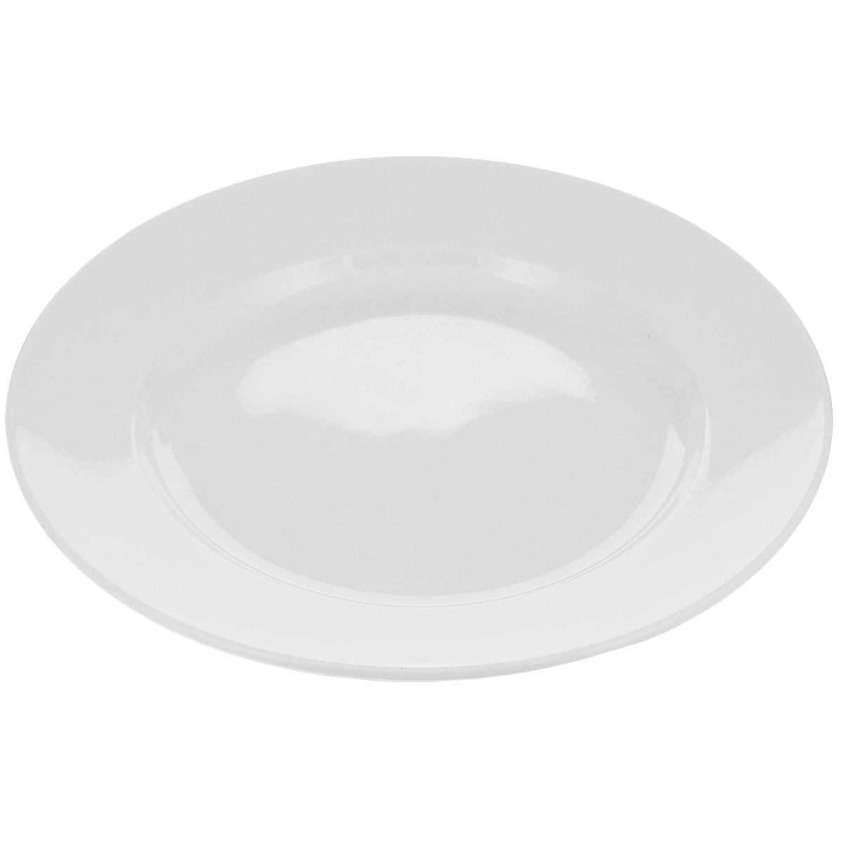 Тарелка Tescoma Opus, диаметр 27 см115510Тарелка Tescoma Opus выполнена из высококачественного фарфора однотонного цвета и прекрасно подойдет для вашей кухни. Такая тарелка изысканно украсит сервировку как обеденного, так и праздничного стола. Предназначена для подачи вторых блюд. Пригодна для использования в микроволновой печи. Можно мыть в посудомоечной машине.Диаметр: 27см.Высота тарелки: 2 см..