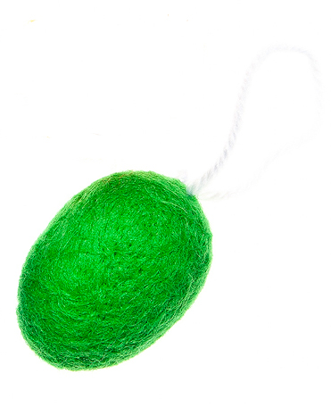 Пасхальное подвесное украшение Home Queen Мягкость, цвет: зеленый60727_1Пасхальное подвесное украшение Home Queen Мягкость изготовлено из пенопласта, декорировано мягкой однотонной шерстью и оснащено петелькой для подвешивания.Такое украшение прекрасно оформит интерьер дома или станет замечательным подарком для друзей и близких на Пасху.