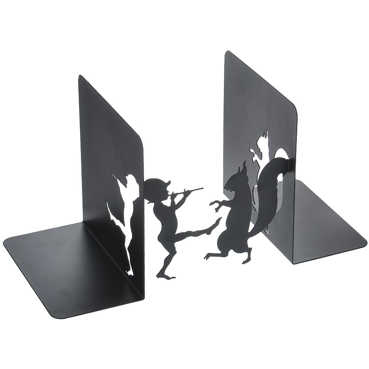 Подставка-ограничитель для книг Белка и мальчик, 2 шт47022Подставка-ограничитель для книг Белка и мальчик состоит из частей, выполненных из металла, с помощью которых можно подпирать книги с двух сторон. Изделия оформлены декоративными фигурками в виде мальчика и белки. Между подставками можно поместить неограниченное количество книг. Подставка-ограничитель для книг Белка и мальчик - это не только держатель для книг, но и интересный элемент декора, который ярко дополнит интерьер помещения. Размер одной части : 14 см х 15 см х 16 см.Комплектация: 2 шт.