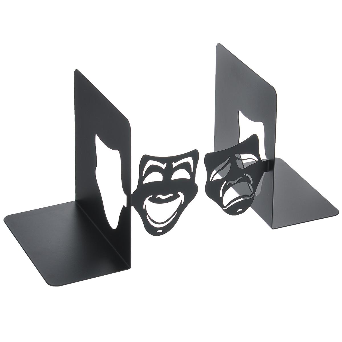 Декоративная подставка-ограничитель для книг Феникс-презент Маски, 2 шт