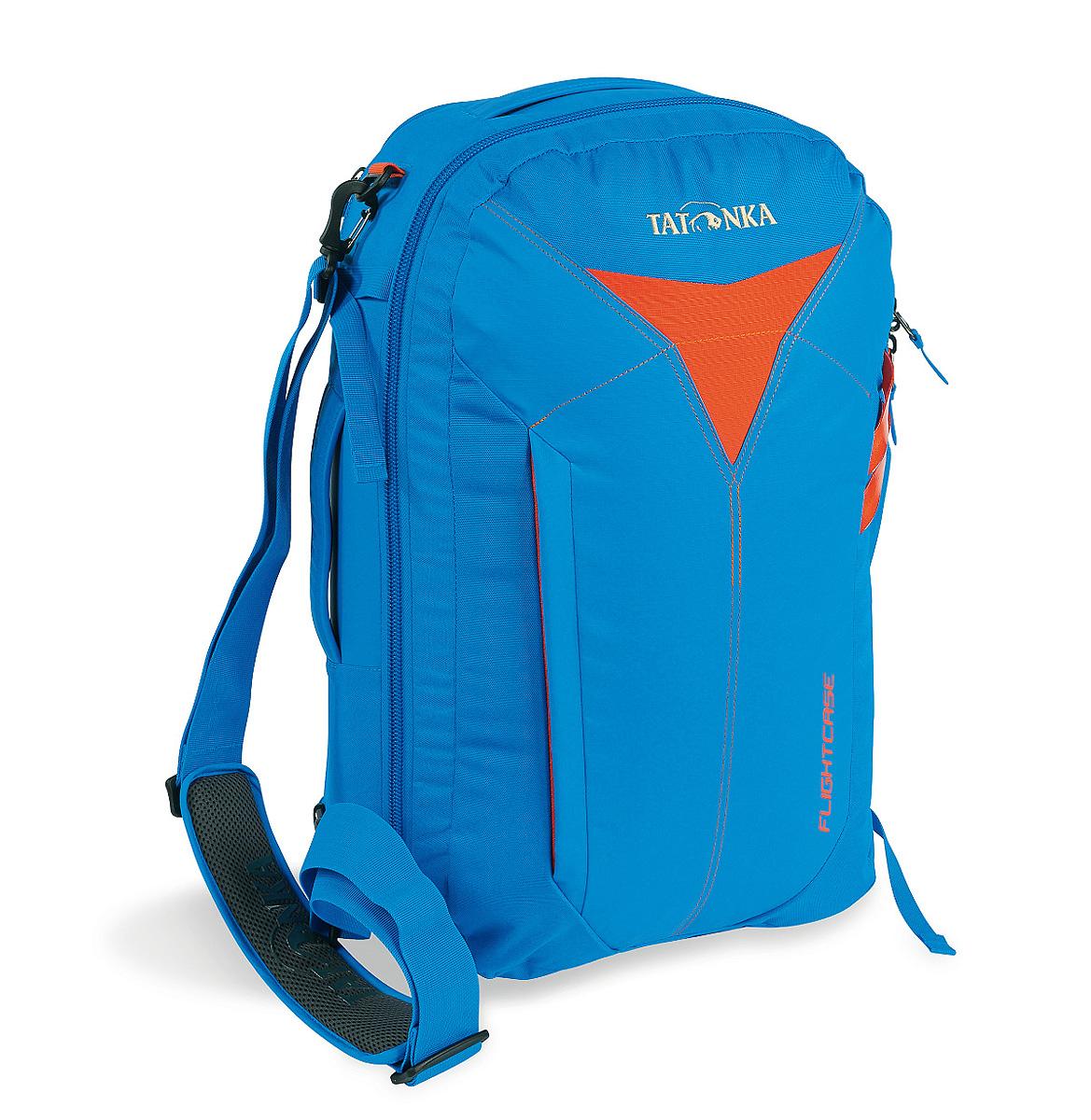 Сумка-рюкзак для путешествий Tatonka Flightcase, цвет: ярко-синий, 38 лL39845800Дорожная сумка-рюкзак Tatonka Flightcase для авиаперелетов. Соответствует требованиям ЕС к размерам ручной клади в самолетах. Переносить можно за ручку, на плече и как рюкзак.Преимущества и особенности:Соответствует требованиям ЕС к размерам ручной клади.Ручки для переноски.Съемный плечевой ремень.Убирающиеся лямки.Функциональное основное отделение.Боковые стяжки.Табличка для имени владельца.Внешний накладной карман.