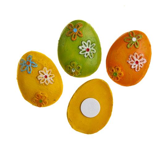 Набор декоративных украшений для яиц Home Queen Яйца, на клейкой основе, 9 шт812306Набор Home Queen Яйца состоит из 9 декоративных элементов и предназначен для украшения яиц, посуды, стекла, керамики, металла, цветочных горшков, ваз и других предметов интерьера. Украшения изготовлены из высококачественной полирезины в виде пасхальных яиц, декорированных цветочным узором, и фиксируются при помощи специальной клейкой основы. Такой набор украшений создаст атмосферу праздника в вашем доме. Размер фигурки: 2 см х 0,4 см х 2,5 см.