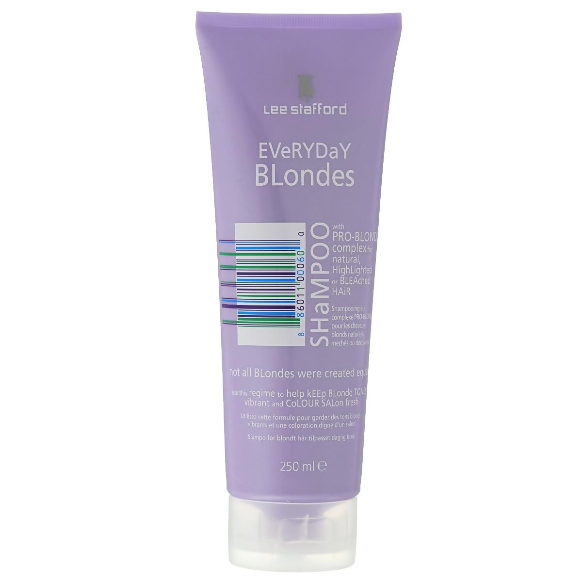 Lee Stafford Шампунь для осветленных волос для ежедневного применения Bleach Blonde, 250 мл768858200120 Lee Stafford EverydayBlondeShampoo,шампуньдляосветленныхволосдляежедневногоприменения250мл. Ежедневный уход, разработанный специально для осветленных волос. Сохраняет цвет и придает волосам платиновый оттенок. Комплекс Pro-Blonde TM – содержит пантенол, экстракты ромашки и семян моринги, которые сохраняют естественный блеск и шелковистость.
