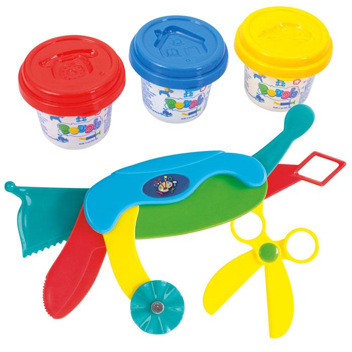 Playgo Набор для лепки Dough Multi ToolПл-008Набор для лепки Playgo Dough Multi Tool представляет собой сочетание моделирования и игры. Набор включает в себя: 3 баночки массы для лепки по 56 г (синий, красный, желтый), многофункциональный нож. Входящая в набор пластилиновая масса разработана специально для детей, очень мягкая, приятно пахнет, ее не надо разминать перед лепкой.Пластилин быстро высыхает, не имеет запаха, не липнет к рукам и одежде, легко смывается, а так же легко смешивается, что позволяет получать новые цвета. На крышечках баночек имеются трафареты с помощью которых ваш ребенок сможет легко самостоятельно сделать фигурку. Все инструменты ножа выполнены из пластика и не имеют острых концов, что безопасно для вашего малыша. С их помощью он сможет легко и быстро разрезать массу и создать детали различной формы. При помощи этого набора ваш ребенок сможет своими руками изготовить красивые фигурки.Работа с пластилином развивает мелкую моторику пальцев малыша, пространственное воображение, фантазию.