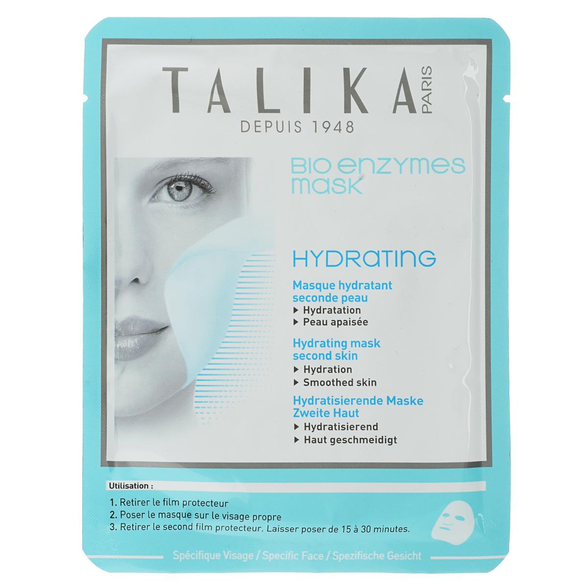 Talika Увлажняющая маска для лица Bio Enzymes, 20 гFS-36054Увлажняющая маска для лица Bio Enzymes. Насыщенная задерживающим влагу сахаром маска обогащает кожу влагой. Экстракты альпийских цветов успокаивают кожу.