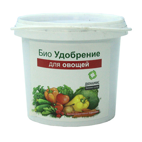 Био-удобрение Дюнамис для овощей, 1 л8711969703339Био-удобрение Дюнамис - это универсальное удобрение для всех видов овощей. Уникальная сбалансированная формула веществ способствует увеличению всхожести и урожайности до 53%, улучшению вкусовых качеств продуктов. Благодаря такому удобрению, повышается сопротивляемость к заболеваниям, также это эффективная помощь при дефиците питания и влаги. Приживаемость рассады до 100%.Варианты применения:- перед посадкой;- в лунку при посадке; - добавление в грунт перед посадкой; - жидкие корневые подкормки.Состав: ферментированный навоз КРС, помет, биокатализатор.Объем: 1 л.Товар сертифицирован.