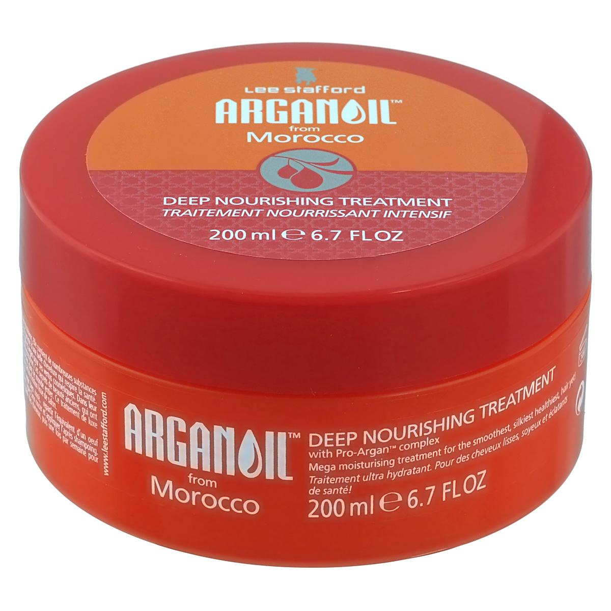 Lee Stafford Интенсивная питательная маска для волос с аргановым маслом Arganoil From Marocco, 200 мл lee stafford шампунь для вьющихся волос here come the curls 250 мл