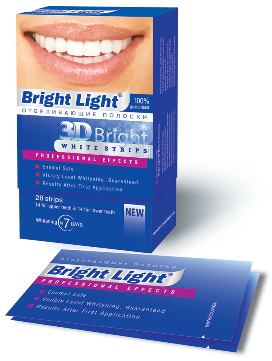 Отбеливающие полоски для зубов Bright Light 3D Bright Professional EffectsDB4010(DB4.510)/голубой/розовыйХарактеристики:Комплектация: 28 шт. Размер упаковки: 7,5 см x 13 см x 2,5 см. Производитель: Китай. Артикул:PRO -1. Товар сертифицирован.