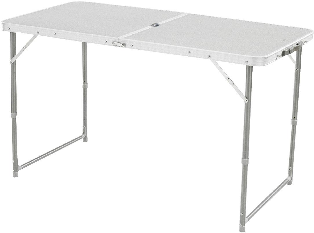 Стол складной Woodland Family Table Luxe, 120 см x 60 см x 70 см0036501Складной стол Woodland Family Table Luxe предназначен для создания комфортных условий в туристических походах, охоте, рыбалке и кемпинге.Особенности:Компактная складная конструкция.Прочный алюминиевый каркас.Материал столешницы - МДФ.Удобная ручка для переноски.Отверстие под зонт.