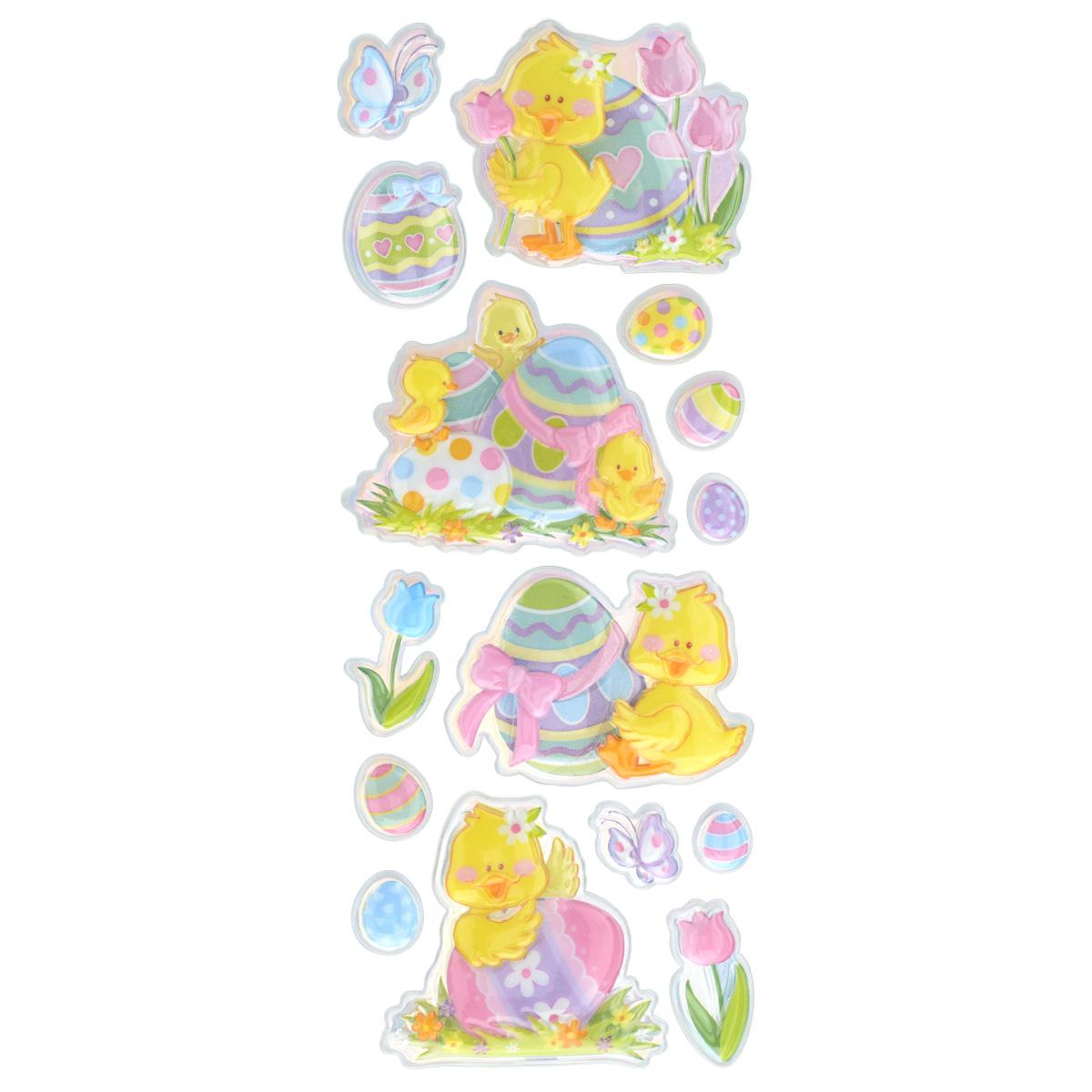 Набор объемных наклеек Home Queen Цыплята с тюльпанами, 15 штUTT-91Набор объемных наклеек Home Queen Цыплята с тюльпанами прекрасно подойдет для оформления творческих работ. Их можно использовать для скрапбукинга, украшения упаковок, подарков и конвертов, открыток, декорирования коллажей, фотографий, изделий ручной работы и предметов интерьера. Объемные наклейки выполнены из ПВХ. Задняя сторона клейкая. В наборе - 15 объемных наклеек, выполненных в виде цыпленка, пасхальных яиц и цветов. Такой набор украшений создаст атмосферу праздника в вашем доме. Комплектация: 15 шт.Средний размер наклейки: 6 см х 5,5 см.