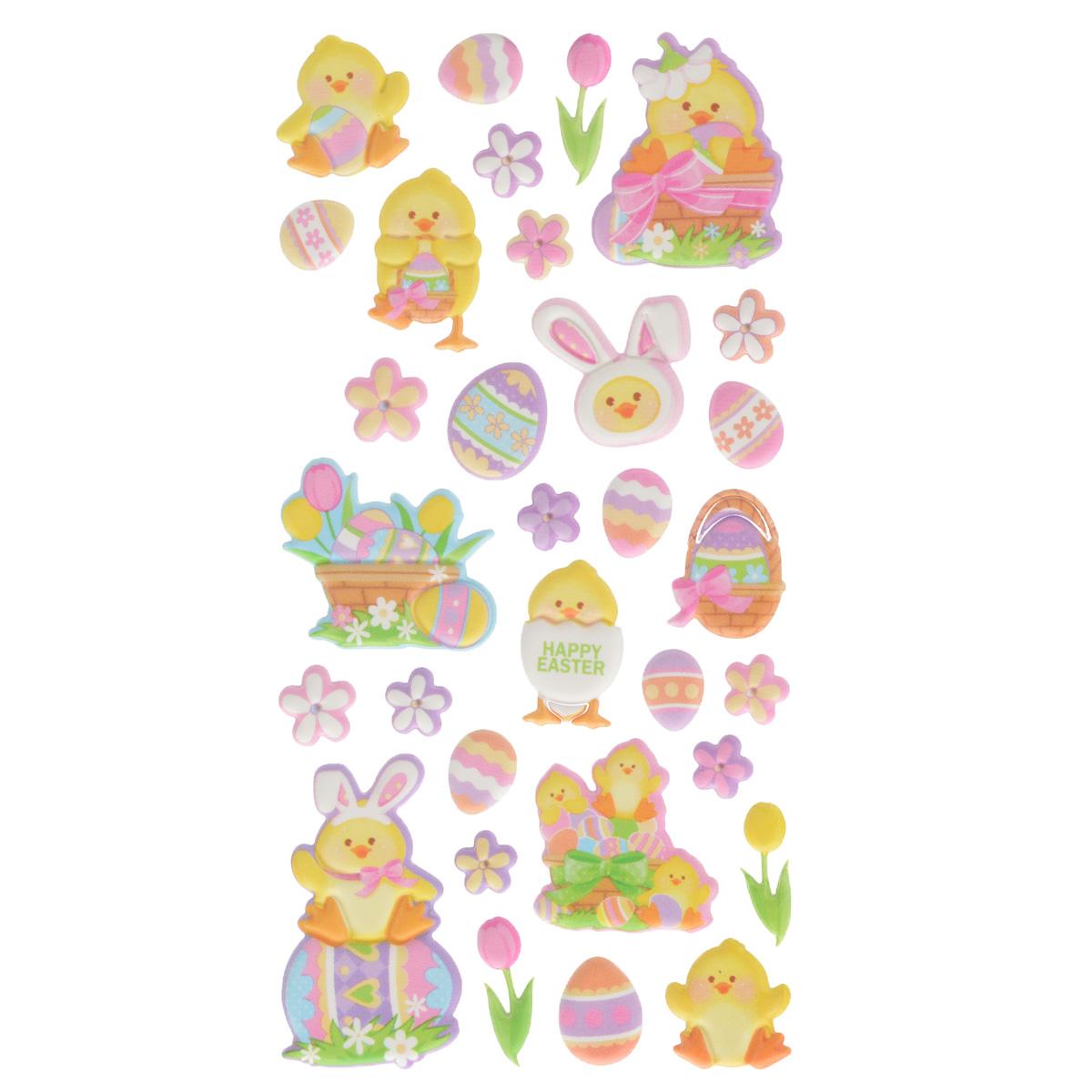 Набор объемных наклеек Home Queen Цыпленок в заячьих ушках, 32 шт300151_темно-розовыйНабор объемных наклеек Home Queen Цыпленок в заячьих ушках прекрасно подойдет для оформления творческих работ. Их можно использовать для скрапбукинга, украшения упаковок, подарков и конвертов, открыток, декорирования коллажей, фотографий, изделий ручной работы и предметов интерьера. Объемные наклейки выполнены из пластика. Задняя сторона клейкая. В наборе - 32 объемные наклейки, выполненные в виде цыпленка, пасхальных яиц и цветов. Такой набор украшений создаст атмосферу праздника в вашем доме. Комплектация: 32 шт.Средний размер наклейки: 2,5 см х 2,5 см.