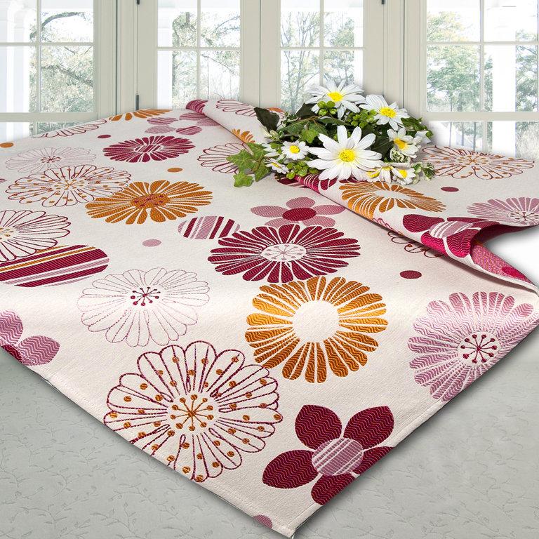 Скатерть Schaefer, квадратная, цвет: розовый, оранжевый, 85x 85 см. 06665-100VT-1520(SR)Скатерть Schaefer выполнена из высококачественного полиэстера и оформлена цветочным принтом. У скатерти интересная фактура ткани, создающая объемный рисунок.Изделия из полиэстера легко стирать: они не мнутся, не садятся и быстро сохнут, они более долговечны, чем изделия из натуральных волокон. Скатерть Schaefer не останется без внимания ваших гостей, а вас будет ежедневно радовать ярким дизайном и несравненным качеством.Немецкая компания Schaefer создана в 1921 году. На протяжении всего времени существования она создает уникальные коллекции домашнего текстиля для гостиных, спален, кухонь и ванных комнат. Дизайнерские идеи немецких художников компании Schaefer воплощаются в текстильных изделиях, которые сделают ваш дом красивее и уютнее и не останутся незамеченными вашими гостями. Дарите себе и близким красоту каждый день! Изысканный текстиль от немецкой компании Schaefer - это красота, стиль и уют в вашем доме.