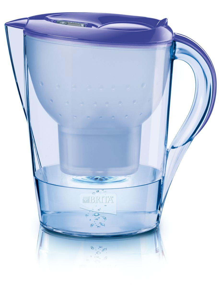 Фильтр-кувшин для воды Brita Color Edition XL, цвет: лавандовый, 3,5 лFD 992Фильтр-кувшин Brita Color Edition XL, выполненный из цветного пластика, станет необходимым помощником на вашей кухне. Вода, очищенная данным фильтром обладает рядом преимуществ:- улучшает вкус горячих и холодных напитков, - увеличивает срок службы бытовых приборов, препятствуя образованию накипи, - идеальна для приготовления вкусной и здоровой пищи, - придает более насыщенный вкус и аромат чаю и кофе. Технология картриджа Maxtra снижает содержание в воде таких веществ, как хлор, алюминий, тяжелые металлы (свинец и медь), некоторые пестициды и органические примеси. Также он отфильтровывает соли жесткости.Особенности данного фильтра: - только для Maxtra, - благодаря удобной функции (одним нажатием кнопки) заменить картридж очень просто, - откидная крышка в отверстии для заливки воды, - календарь: механический индикатор ресурса кассеты будет автоматически напоминать вам о необходимости заменить кассету через каждые 4 недели использования, - эргономичный дизайн, - фильтр можно мыть в посудомоечной машине (за исключением крышки).Фильтры Brita имеют уникальную систему очистки, которая помогает смягчить питьевую воду. Они предлагают идеальную возможность улучшить качество питьевой воды дома. Фильтры Brita снижают образование известкового налета. Инновации компании Brita подтверждаются значительным количеством патентов, в том числе и на международном уровне.Успех компании обуславливается постоянным расширением продуктовой линейки. Общий объем фильтра: 3,5 л.Полезный объем: 2 л.