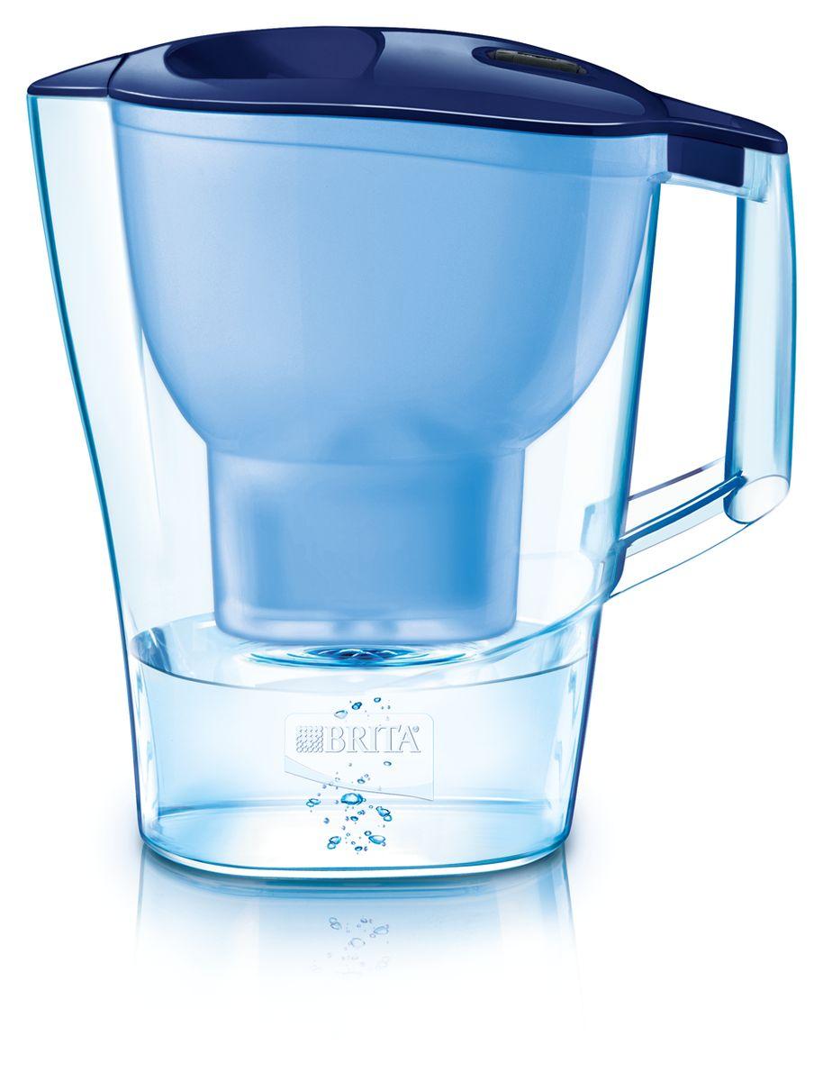 Фильтр-кувшин для воды Brita Aluna XL, цвет: синий, 3,5 л1008944Фильтр-кувшин Brita Aluna XL, выполненный из пластика, станет необходимым помощником на вашей кухне. Вода, очищенная данным фильтром обладает рядом преимуществ:- улучшает вкус горячих и холодных напитков, - увеличивает срок службы бытовых приборов, препятствуя образованию накипи, - идеальна для приготовления вкусной и здоровой пищи, - придает более насыщенный вкус и аромат чаю и кофе. Технология картриджа Maxtra снижает содержание в воде таких веществ, как хлор, алюминий, тяжелые металлы (свинец и медь), некоторые пестициды и органические примеси. Также он отфильтровывает соли жесткости.Особенности данного фильтра: - только для Maxtra, - благодаря удобной функции (одним нажатием кнопки) заменить картридж очень просто, - календарь: механический индикатор ресурса кассеты будет автоматически напоминать вам о необходимости заменить кассету через каждые 4 недели использования, - эргономичный дизайн, - фильтр можно мыть в посудомоечной машине (за исключением крышки).Фильтры Brita имеют уникальную систему очистки, которая помогает смягчить питьевую воду. Они предлагают идеальную возможность улучшить качество питьевой воды дома. Фильтры Brita снижают образование известкового налета. Инновации компании Brita подтверждаются значительным количеством патентов, в том числе и на международном уровне. Успех компании обуславливается постоянным расширением продуктовой линейки.Под указанный кувшин подходит только Brita Maxtra (Брита Макстра).Общий объем фильтра: 3,5 л.Полезный объем: 2 л.