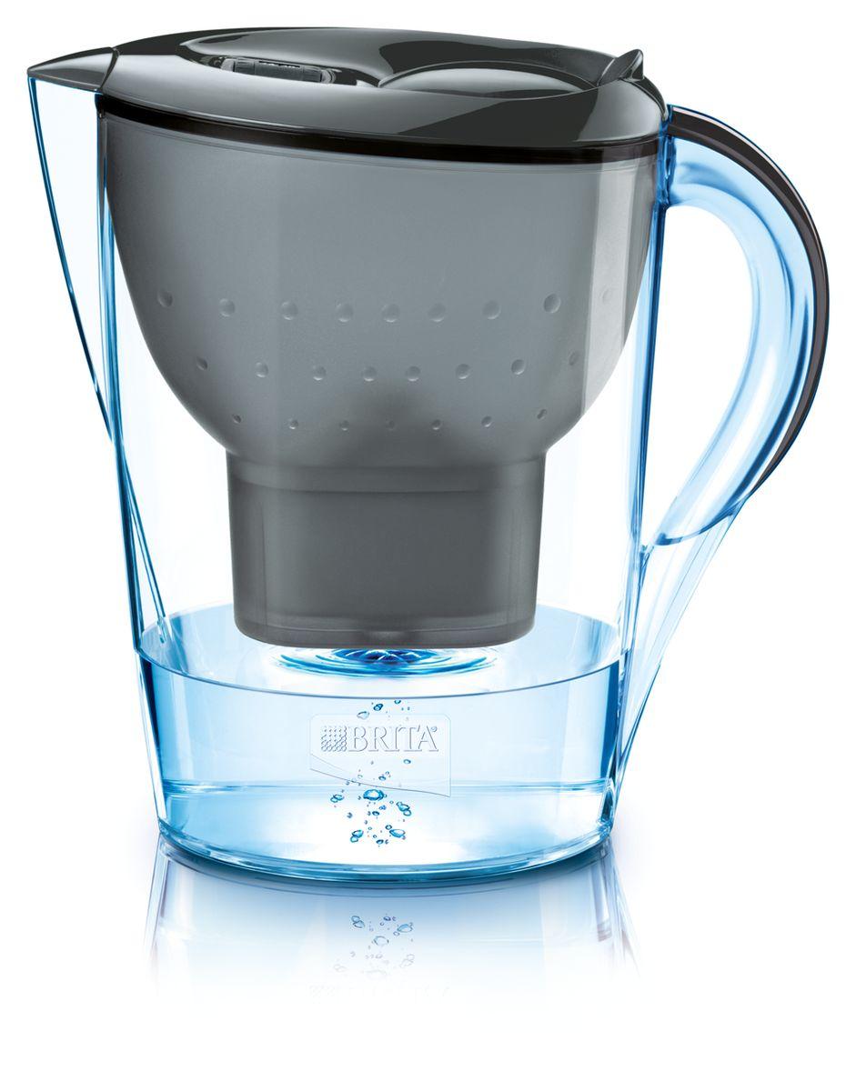 Фильтр-кувшин для воды Brita Marella XL, цвет: графитовый, 3,5 лАксион Т-33Фильтр-кувшин Brita Marella XL, выполненный из пластика, станет необходимым помощником на вашей кухне. Вода, очищенная данным фильтром обладает рядом преимуществ:- улучшает вкус горячих и холодных напитков, - увеличивает срок службы бытовых приборов, препятствуя образованию накипи, - идеальна для приготовления вкусной и здоровой пищи, - придает более насыщенный вкус и аромат чаю и кофе. Технология картриджа Maxtra снижает содержание в воде таких веществ, как хлор, алюминий, тяжелые металлы (свинец и медь), некоторые пестициды и органические примеси. Также он отфильтровывает соли жесткости.Особенности данного фильтра: - только для Maxtra, - благодаря удобной функции (одним нажатием кнопки) заменить картридж очень просто, - откидная крышка в отверстии для заливки воды, - календарь: механический индикатор ресурса кассеты будет автоматически напоминать вам о необходимости заменить кассету через каждые 4 недели использования, - эргономичный дизайн, - фильтр можно мыть в посудомоечной машине (за исключением крышки).Фильтры Brita имеют уникальную систему очистки, которая помогает смягчить питьевую воду. Они предлагают идеальную возможность улучшить качество питьевой воды дома. Фильтры Brita снижают образование известкового налета. Инновации компании Brita подтверждаются значительным количеством патентов, в том числе и на международном уровне.Успех компании обуславливается постоянным расширением продуктовой линейки. Общий объем фильтра: 3,5 л.Полезный объем: 2 л.