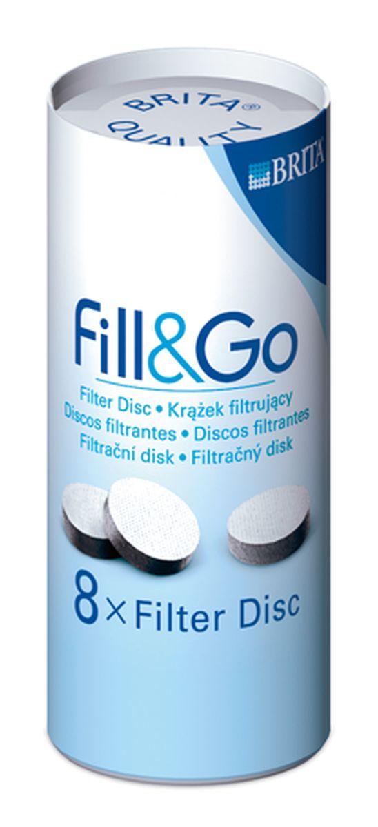 Набор сменных фильтрующих дисков Brita Fill & Go, для доочистки воды, 8 шт21395599Сменный фильтрующий диск Brita Fill & Go изготовленный при помощи инновационной технологии, позволяет сократить содержание хлора, мелких твердых частиц и других посторонних веществ. Рекомендуется менять раз в неделю для обеспечения оптимального уровня очистки и отличных вкусовых качеств.Предназначен для доочистки водопроводной воды.Изделие соответствует нормам безопасности для здоровья и допущено к контакту с холодной водопроводной водой.Диаметр диска: 4,5 см.