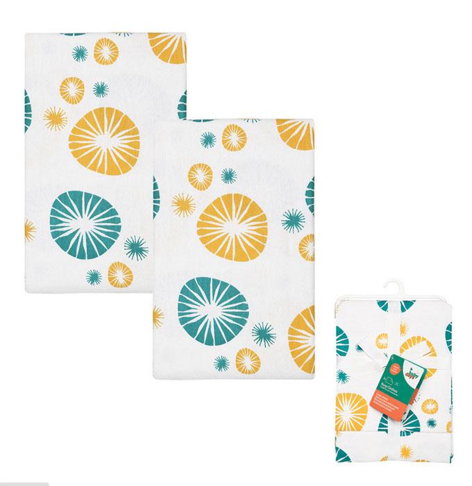 Набор салфеток для кормления Babydays, 33 см х 58 см, цвет: желтый, 2 шт babydays плюшевый