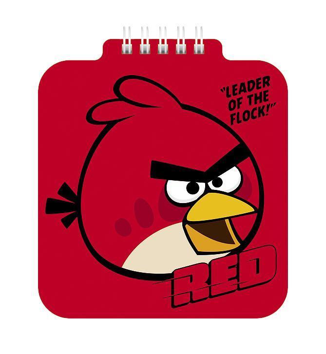 Блокнот 60л А6ф 80 гр/кв.м с фигурной высечкой на гребне-ANGRY BIRDS-