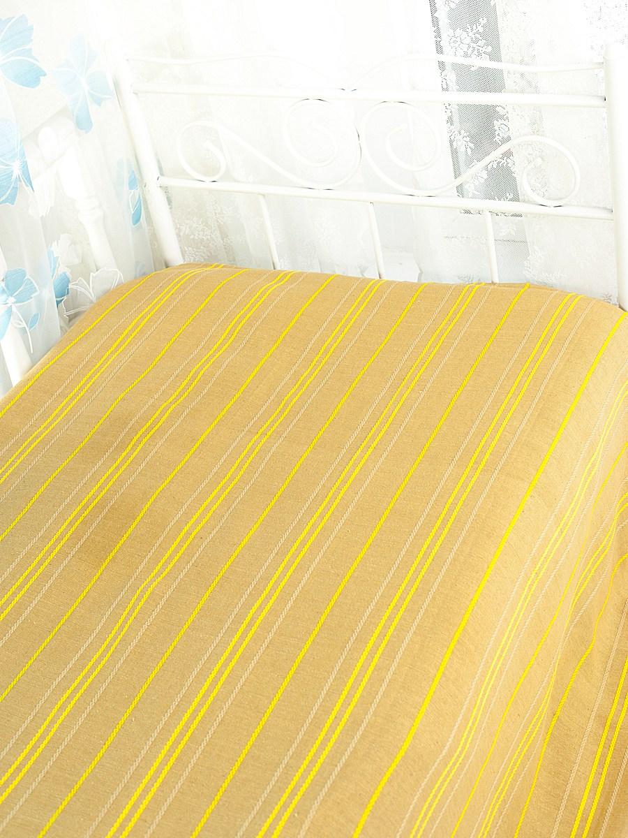 Покрывало Arloni Стокгольм, цвет: медовый, 200 см х 240 смSC-FD421005Покрывало Arloni Стокгольм прекрасно оформит интерьер гостиной или спальни. Изготовлено из экологически чистого материала - 100% хлопка, поэтому подходит как для взрослых, так и для детей. Натуральные краски абсолютно гипоаллергенны. Покрывало однотонное, оформлено вышивкой в виде разноцветных полосок. Хорошо смотрится и на диване, и на большой кровати. Покрывало Arloni не только подарит тепло, но и гармонично впишется в интерьер вашего дома.