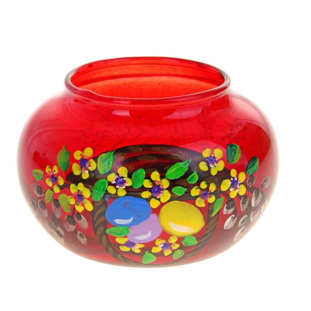 Подсвечник Sima-land Пасха-2, цвет: красный67754_розовыйПодсвечник Sima-land Пасха-2 идеально подойдет для праздничного оформления дома. Подсвечник выполнен из стекла красного цвета и украшен пасхальным рисунком. В центр изделия помещается свеча-таблетка (не входит в комплект). Зажгите свечку, поставьте ее в подсвечник и наслаждайтесь теплом, которое наполнит ваше сердце. Пасхальный декоративный подсвечник украсит интерьер вашего дома. Оригинальный дизайн и красочное исполнение создадут праздничное настроение. Кроме того, это отличный вариант подарка для ваших близких и друзей. Высота подсвечника: 6 см. Диаметр отверстия для свечи: 5,5 см.