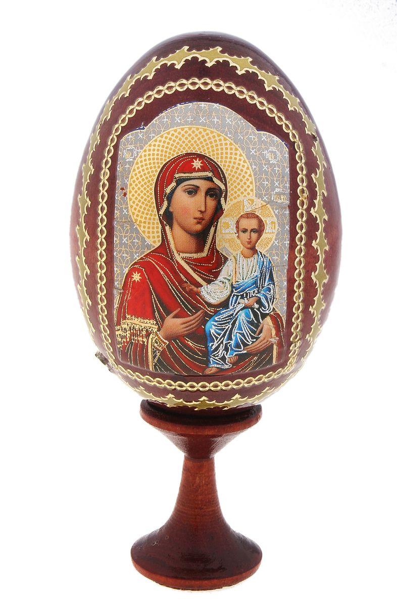 Яйцо декоративное Sima-land Смоленская, на подставке, высота 9,5 см