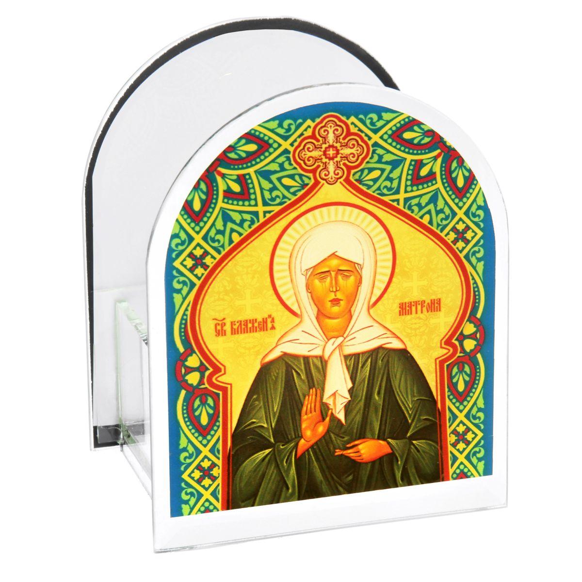 Подсвечник Sima-land Святая Матрона МосковскаяV4140/1SПодсвечник Sima-land Святая Матрона Московская изготовлен из качественного стекла, предназначен для свечи в гильзе. С одной стороны подсвечника изображен лик святого, с другой стороны нанесена молитва. Зажгите свечку поставьте ее в подсвечник и наслаждайтесь теплом, которое наполнит ваше сердце.Такой подсвечник привнесет в ваш дом согласие и мир и будет прекрасным подарком, оберегающим близких вам людей. Размер подсвечника (ДхШхВ): 9 см х 7 см х 11 см.Диаметр отверстия для свечи: 4,5 см.