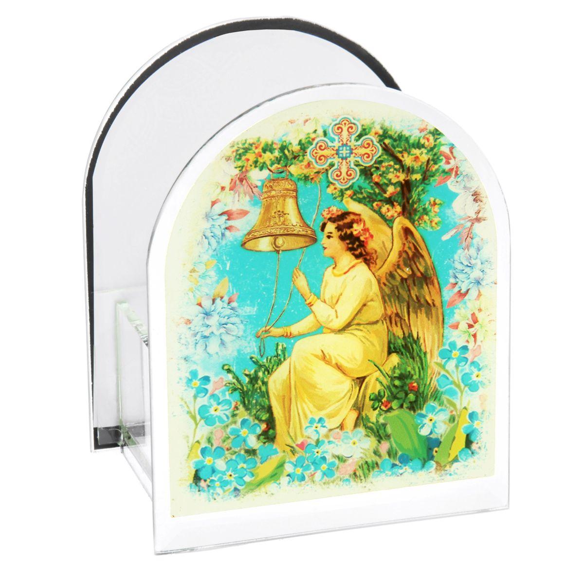 Подсвечник Sima-land Ангел25051 7_зеленыйПодсвечник Sima-land Ангел изготовлен из качественного стекла, предназначен для свечи в гильзе. С одной стороны подсвечника изображен ангел, с другой стороны написаны пожелания. Зажгите свечку поставьте ее в подсвечник и наслаждайтесь теплом, которое наполнит ваше сердце.Такой подсвечник привнесет в ваш дом согласие и мир и будет прекрасным подарком, оберегающим близких вам людей. Размер подсвечника (ДхШхВ): 9 см х 7 см х 11 см.Диаметр отверстия для свечи: 4,5 см.